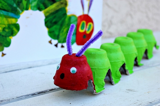 Easter Egg Carton Craft Ideas Reuse Kids Caterpillar