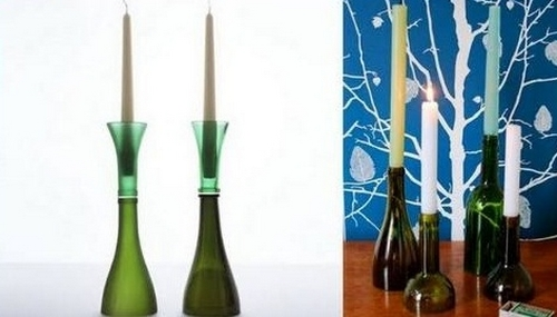 upcycling wine bottles home decoration inspiring candlestick ideas