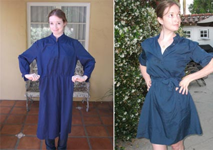 Upcycle clothes old blue dress fashionable creative reuse ideas