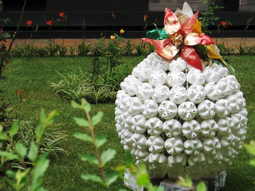 reuse garden creative ideas diy colorful plastic white bottles