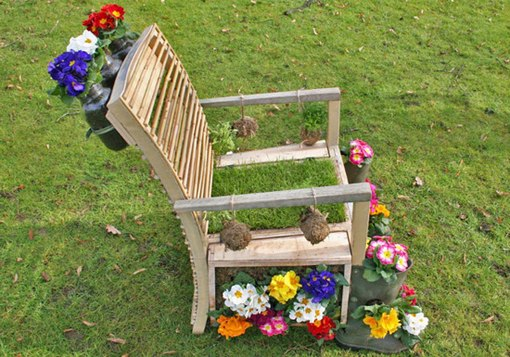 reuse garden ideas diy upcycled creative wooden chair flower planter