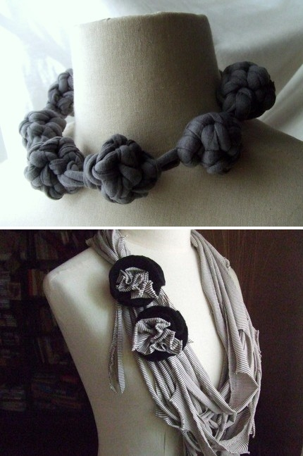 upcycled T-shirt ideas creative diy scarves redesign decorating fashionable