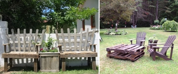 outdoor pallet furniture ideas creative diy garden armchair