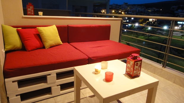 furniture repurpose ideas. Outdoor Pallet Furniture Ideas White Painted Table Red Cushion Creative Reuse Repurpose