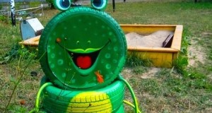 creative-diy-tire-frog-playground-kid-idea-green-colour-toud-garden-smile-project-1