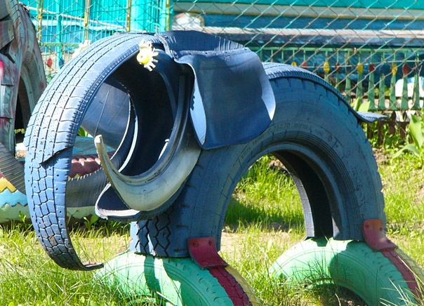 Tire recycling ideas diy elephant upcycled idea repurposing old tire creative playground kids equipment