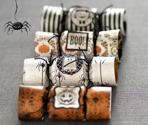 halloween crafts for kids reused toilet paper rolls pumpkin decoration home party ideas