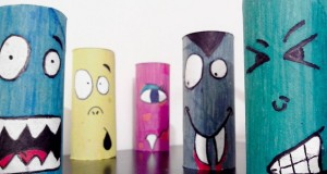halloween-crafts-for-kids-upcycled-colorful-toilet-paper-rolls-home-decoration-ideas
