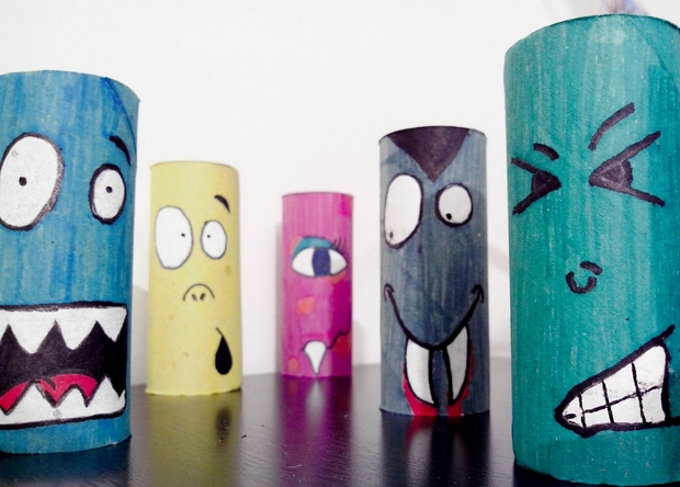 halloween crafts for kids upcycled colorful toilet paper rolls home decoration ideas - Halloween Crafts At Home