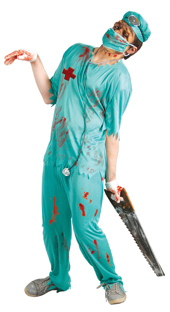 easy adult halloween costumes zombie doctor creative diy halloween ideas saw