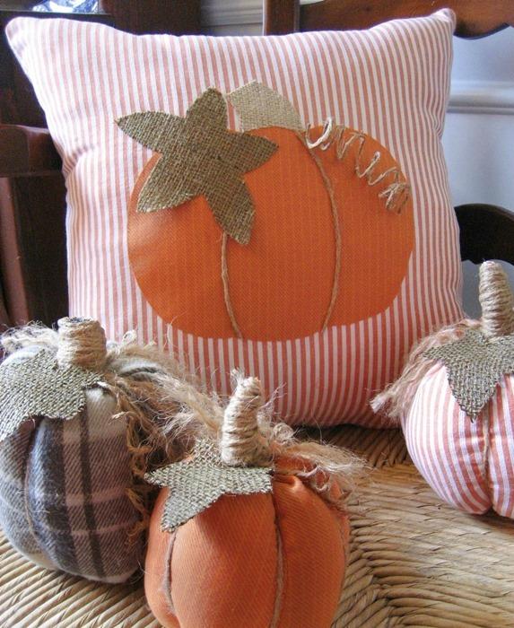 homemade halloween pillows design ideas for indoor design burlap diy cushions - Pillow Design Ideas