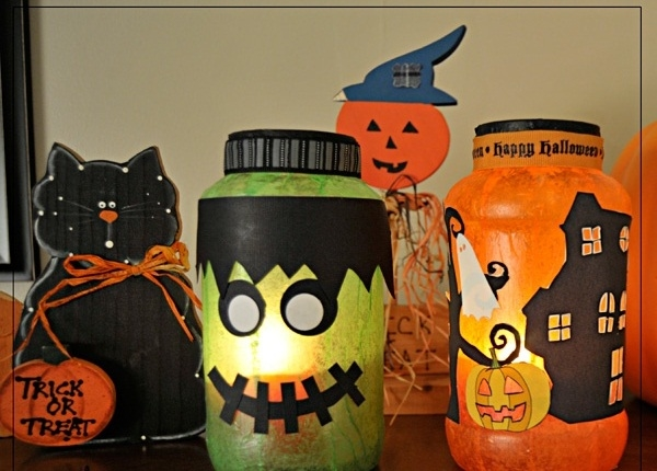 homemade halloween decor reused milk jugs unique lanterns decoration ideas