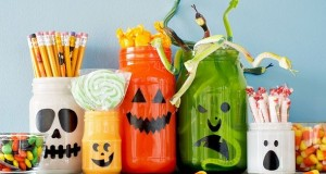 homemade-Halloween-decor-upcycled-empty-milk-jug-luminaries-creative-diy-decoration-ideas