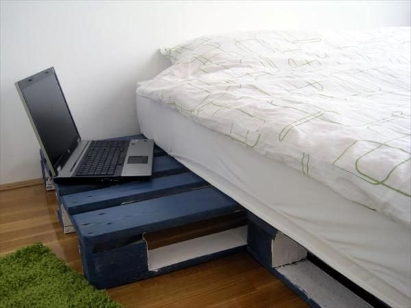 wood pallet bed frame for sale laptop shelf white sheets