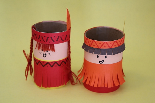 Thanksgiving Crafts Ideas Diy Indians Toilet Paper Rolls Decoration