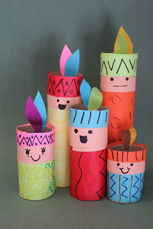 Paper Crafts For Kids Ideas Part - 28: Thanksgiving Crafts Ideas For Kids Indians Toilet Paper Rolls Decoration