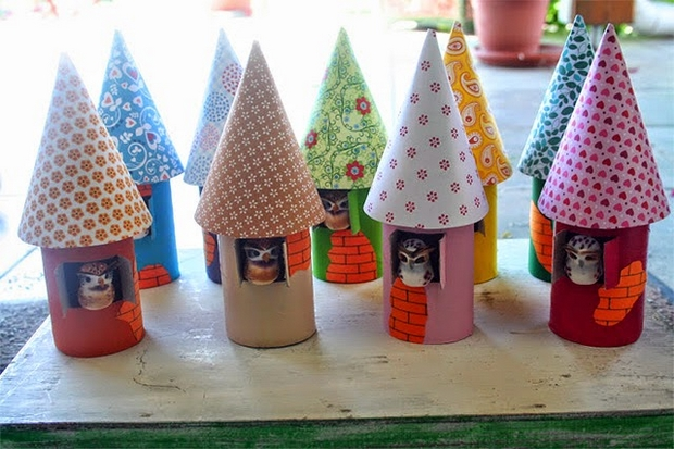 Christmas Owl Bird Houses From Recycled Toilet Paper Rolls Easy Tree Ornaments Decorating Ideas Save Crafts For Kids