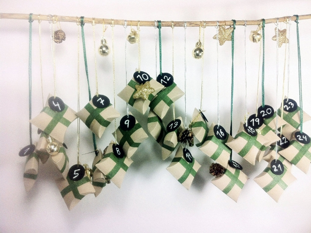easy toilet paper roll christmas calendar diy decorating ideas