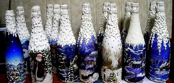 Handmade christmas crafts 15 ways to recycle glass bottles for Handmade home decorations ideas