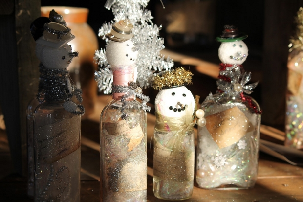 Handmade Christmas Crafts Recycle Empty Bottles Diy Indoor Decor Ideas