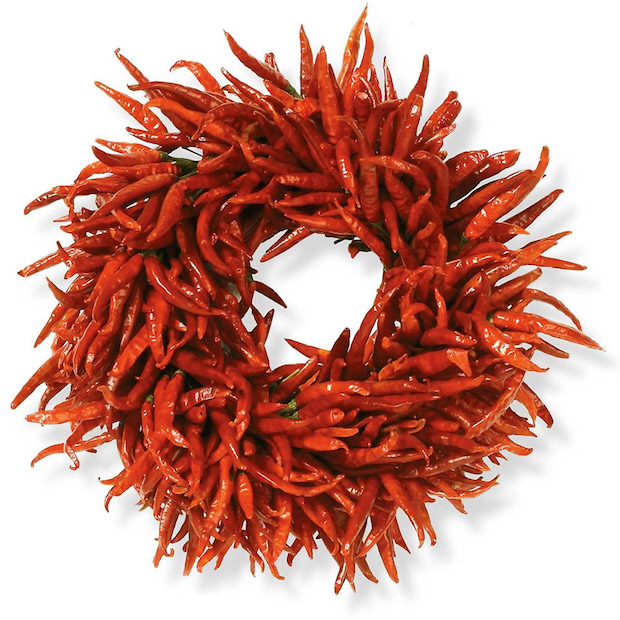 unique christmas dried chilli wreath christmas door decoration idea
