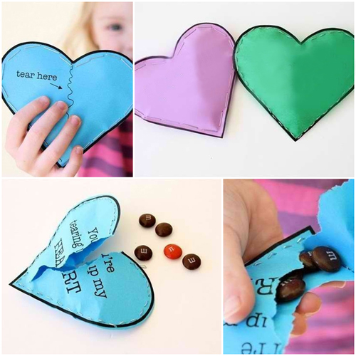 cheap valentines day gift cards for her candies hidden inside