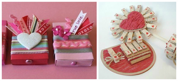 clothespin diy gift for st valentines idea matchbox pinky decoration
