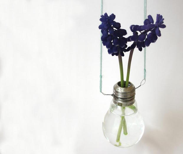 creative gifts for valentines day for her hanging lightbulb upcycling vase