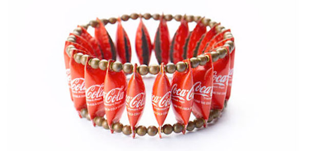 20 romantic handmade valentines day gift ideas for your girl diy bracelet made from reused coca cola caps creative gift for her for valentines day negle Choice Image