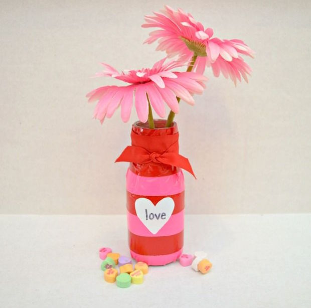 glass bottle vase valentines day gift idea for her flowers