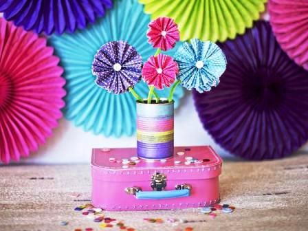 valentines day baking cup flowers easy tin can diy craft decorating ideas