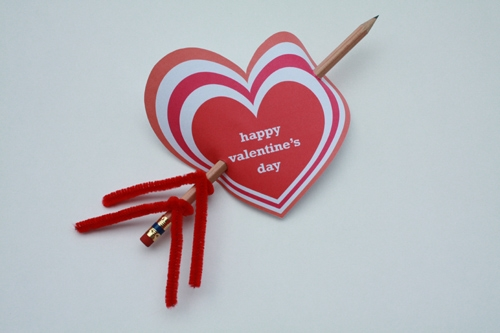 valentines day diy pencil love arrow with paper heart shaped decorating ideas
