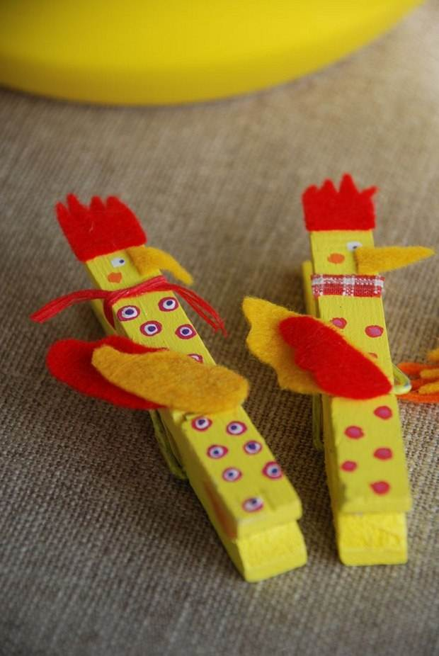 30 easy upcycled and creative diy clothespin crafts idea for Diy creative crafts