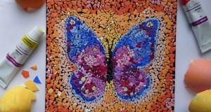 reuse-eggshell-mosaic-art-diy-butterfly-easter-decorating-ideas