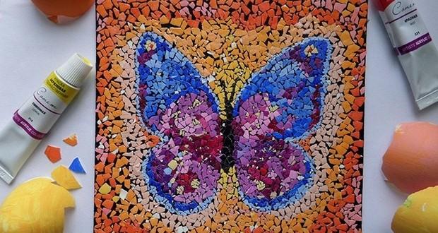 Image gallery mosaic art ideas for Egg mosaic design
