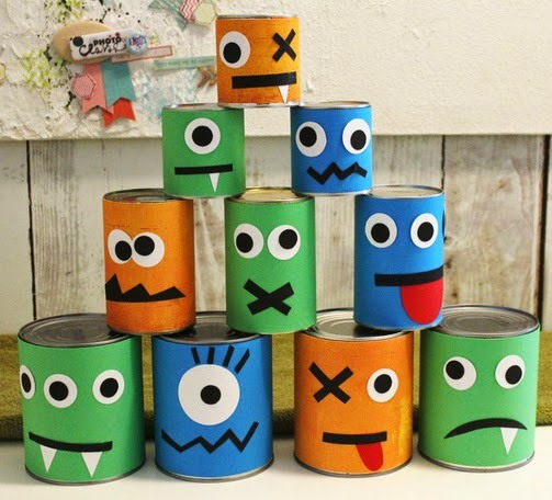 Recycled halloween crafts 17 old tin cans decorations for Easy recycling ideas