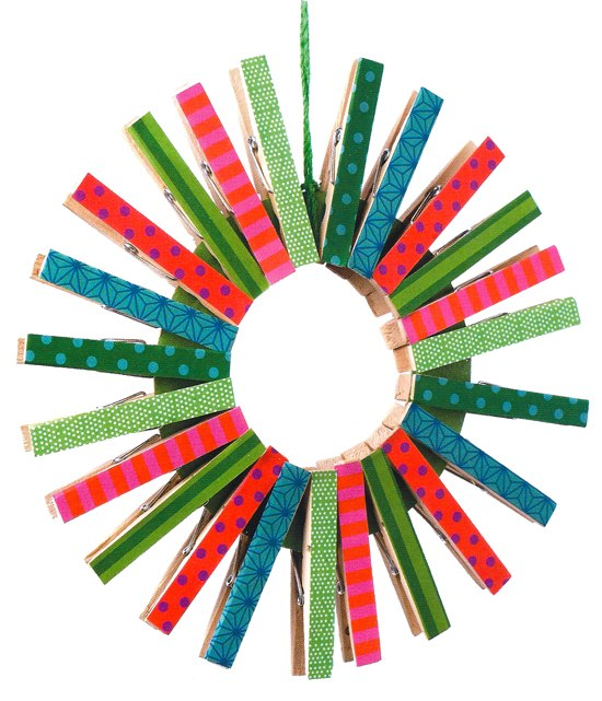 Clothespin Crafts Christmas Part - 49: Christmas Ornaments With Clothespins Multi Color Star Tree Unique Decor  Ideas
