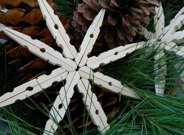 christmas ornaments diy white clothespins star tree decorating ideas
