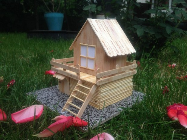 Diy Popsicle Sticks Crafts House Garden Decoration Ideas