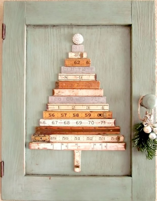 alternative christmas tree measuring tape amazing decoration idea