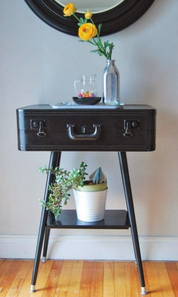 Reuse Furniture reuse old suitcases - 17 furniture ideas for home decoration