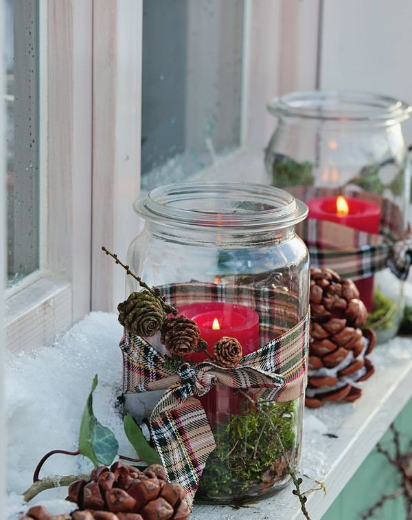 How To Decorate Glass Jars Stunning Glass Jar Christmas Crafts  17 Homemade Inspirations Design Inspiration