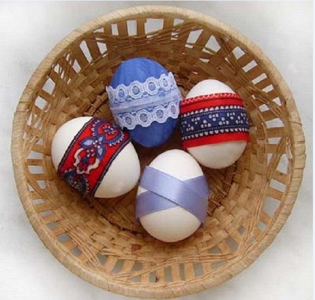 Easter egg decorating ideas using recycled materials easter egg decorating ideas old fabric amazing table basket decor negle Choice Image