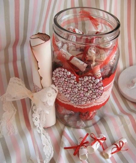 valentines day gift for him glass jar reasons i love you messages pearl heart decorated