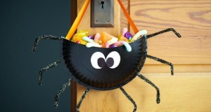 halloween-goody-bag-ideas-black_diy-plastic-spider-hanging-front-door