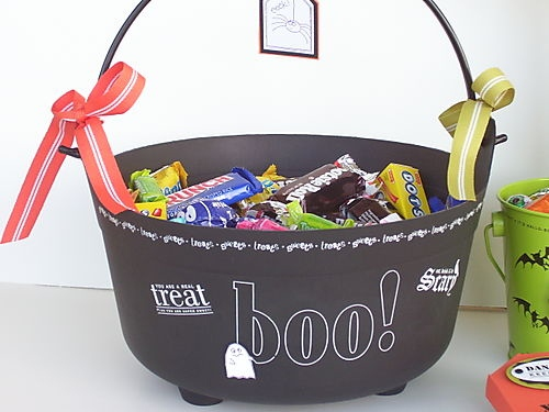 halloween goody bag idea treat black candy box home decor