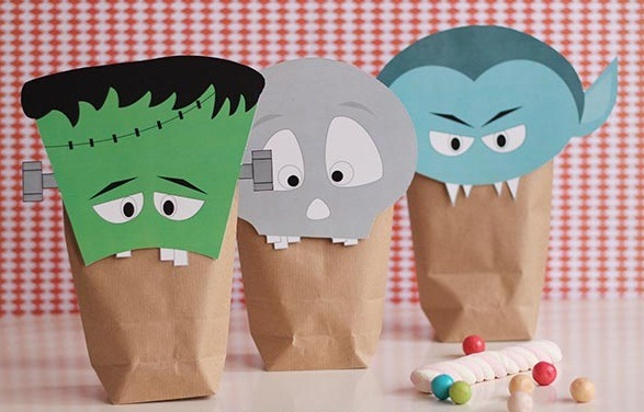 halloween goody paper bag ideas easy diy spooky decoration