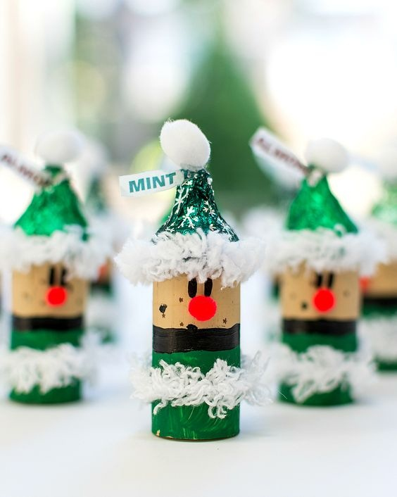 wine cork christmas green painted snowman ornaments decor