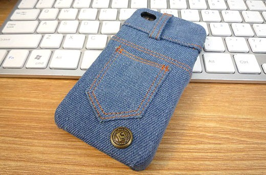 repurpose old jeans diy iphone case creative upcycled crafts