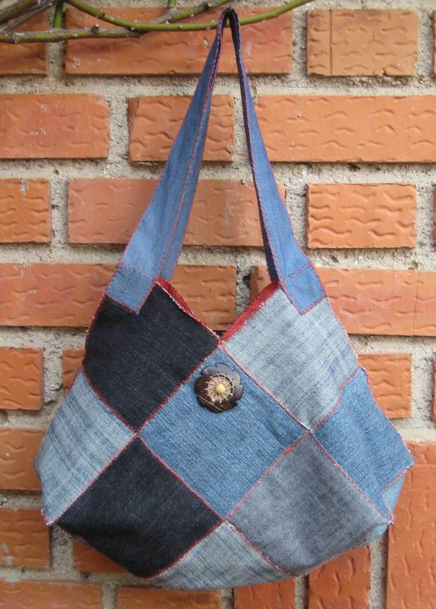 repurpose old jeans handmade women purse amazing craft idea